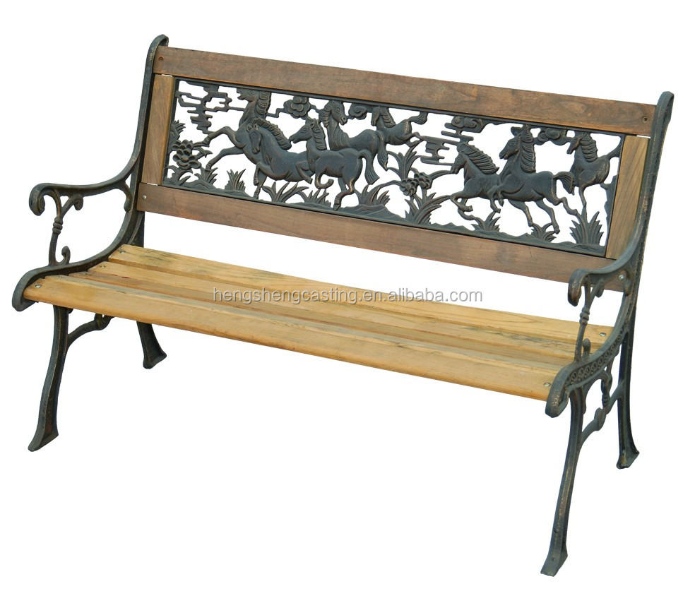 Wood Slats Cast Iron Outdoor Bench For Park Buy Cast