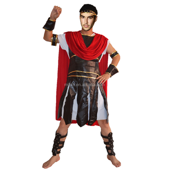 Party Carnival Men Adult Medieval Roman Knight Halloween Costume ...