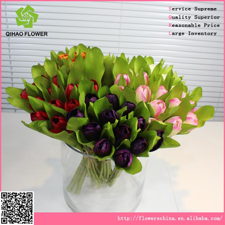 Giant Silk Flowers Artificial Flower Baskets Tulip Bouquet - Buy ...