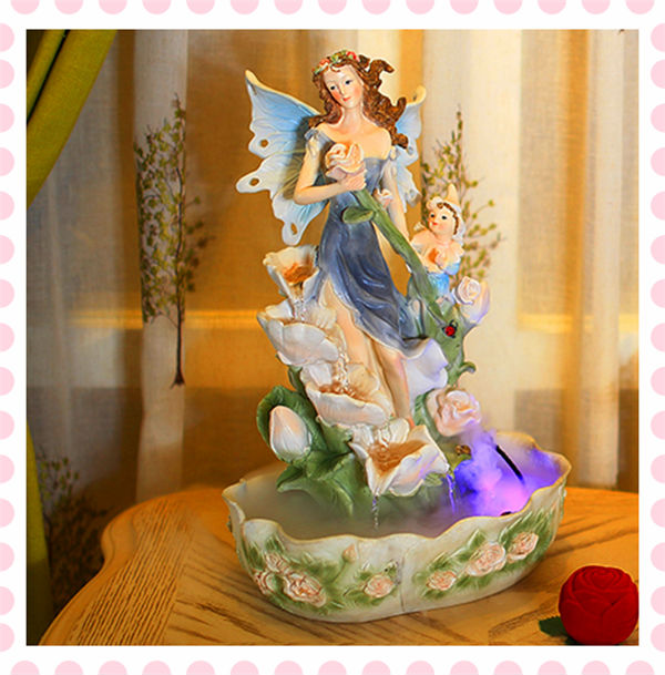 Angel resin Polyresin decorative Water Fountain, indoor waterfalls for homes