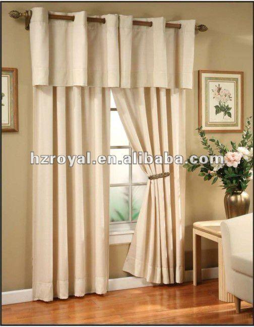 100 poliester cenefa cortina de la ventana cortina - Cenefas para cortinas de sala ...