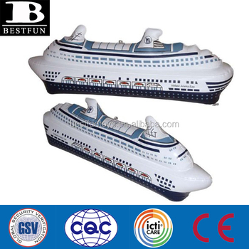 Promotional Customized Oem Pvc Inflatable Small Cruise Ship Model - Cruise ship toys for sale
