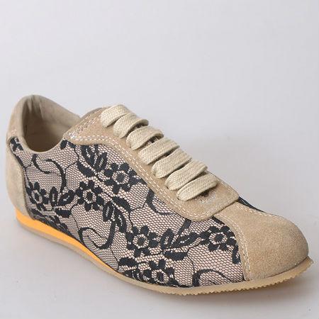 Shoes Pantera Suede Trimmed Beige Sneakers Black q8c8XT