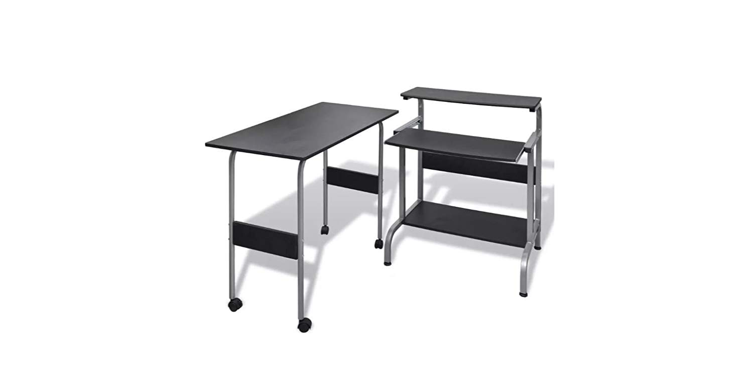 Adjustable Desk Computer Standing Stand Workstation Black K&A Company