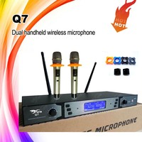 dual handheld UHF Professional Wireless Microphone system for teacher