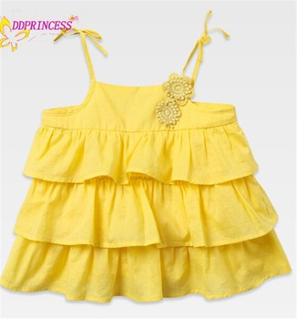 45d53e683c6d cute baby girl clothing white and yellow summer 100% cotton dress designer  cotton dresses for