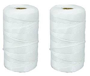 Generic QY*US4*160215*525 *8**1828** Twine S #18 x Twisted 2 ROLLS 2 ROLLS #18 x 500' wisted Line - White - White Mason ason Line - White