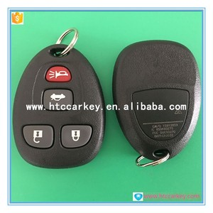 trade assurance auto key 4 button remote control with 315Mhz for gmc car key