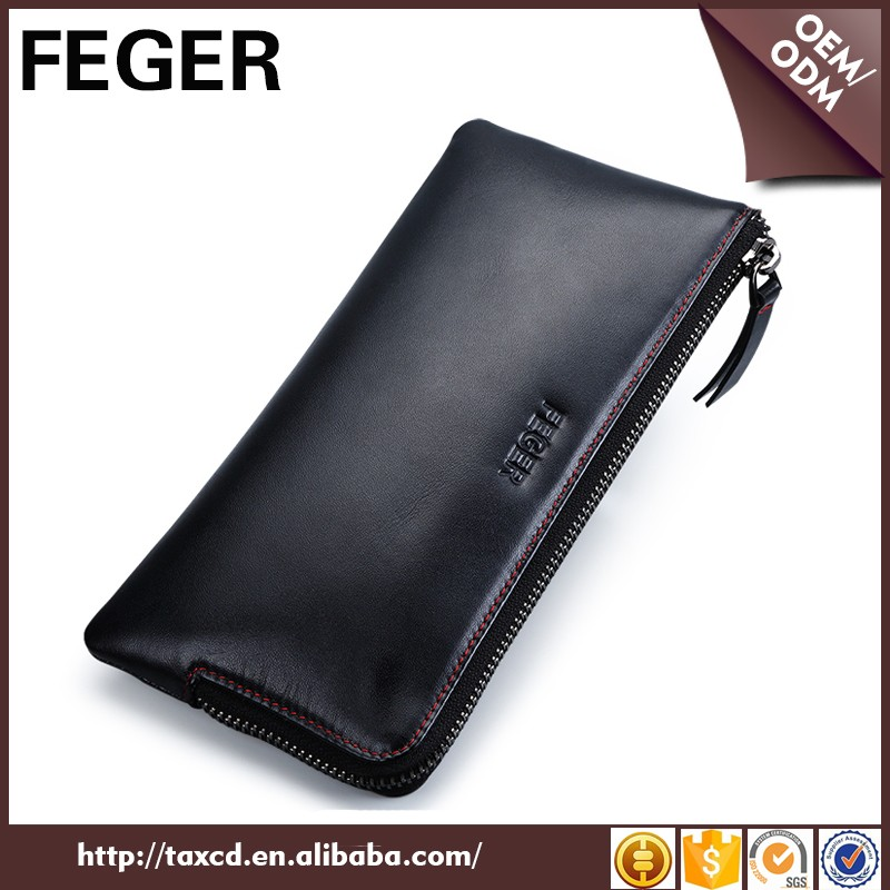 China supplier leather card holder man purse top 10 wallet brands