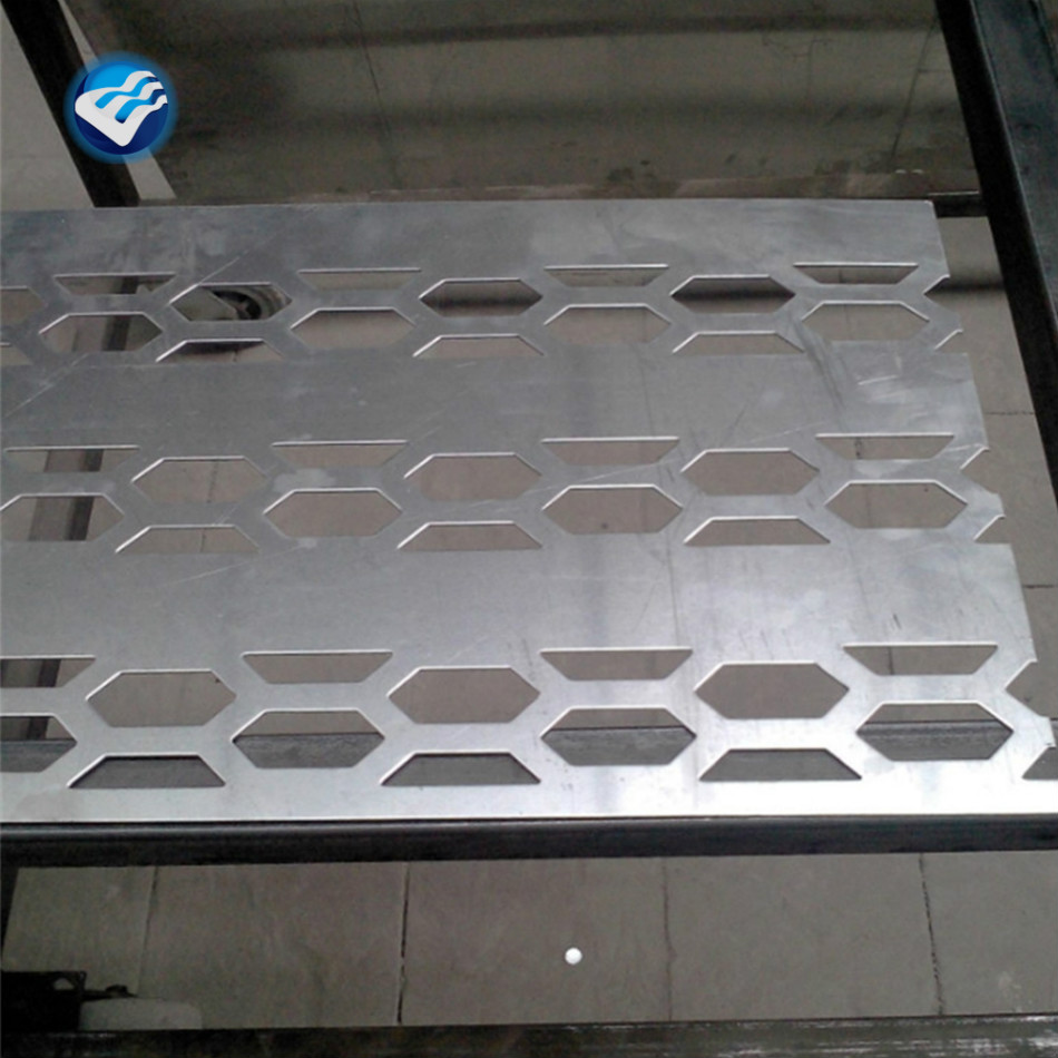 straight hole punch sheet metal white aluminum perforated