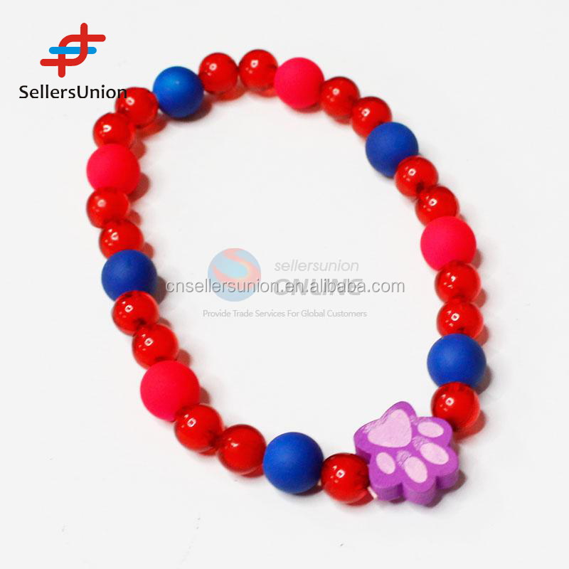 2017 No.1 Yiwu agent commission agent needed hot sale Red and Blue Bead Small Animals Jewelry Accessories