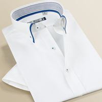 custom new design pure color mens white dress shirts
