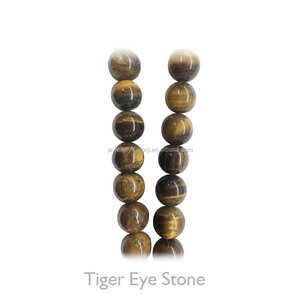 Round Ball Accessories Natural Tiger Eye Stone Charm