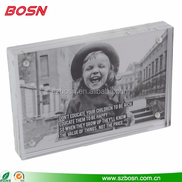Manufactory customized size cheap pretty acrylic frame for photo & picture