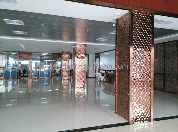 Stainless steel square column decor cover for building for Interior square column designs