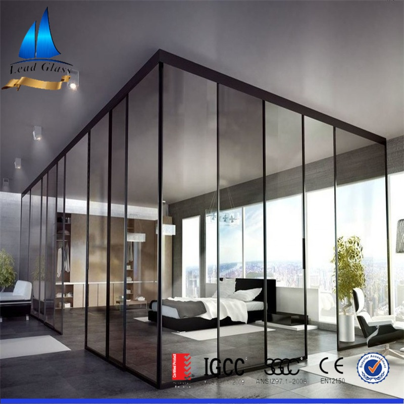Frameless Tempered Toughened Living Room Glass Partition Made In China/cost  Of Glass Partition Walls - Buy Living Room Glass Partition Design,Living