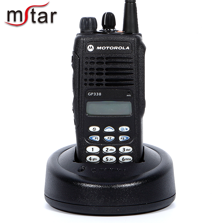 Motorola analogique portable radio gp338 est vhf/uhf lcd et clavier 28 canaux talkie-walkie