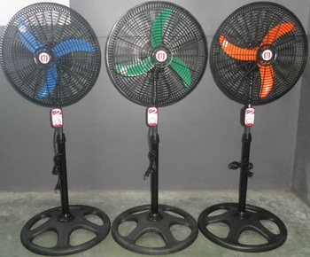 18 plastic blade fan with powerful motor view electric for Plastic fan blades for electric motors