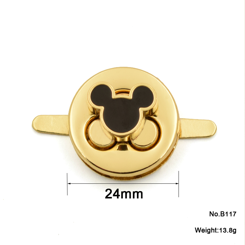 Fashion lovely Mini Mickey Mouse shape metal bag lock