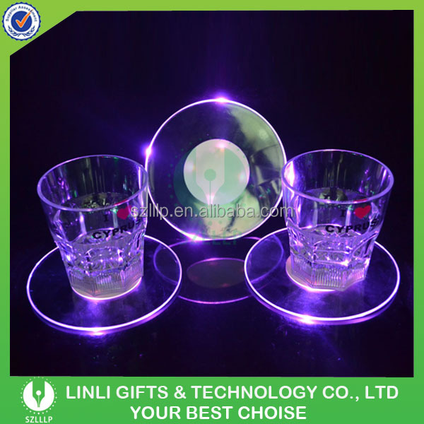 Led Coaster Light For Night Party Led Light Drink Bottle Coasters Blank Coasters Buy Led Light