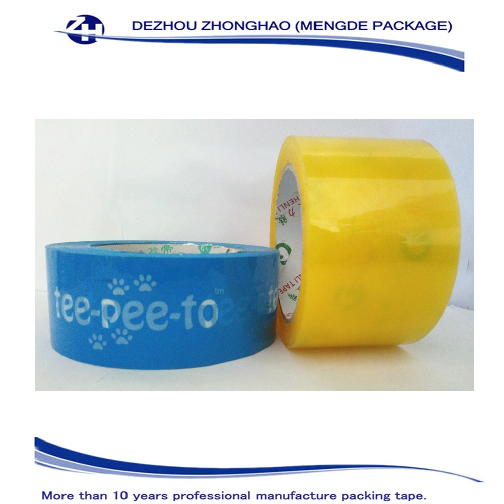 Custom Printed Seam Sealing Bopp Packing Tape With Company Logo / Transparent Adhesive Tape