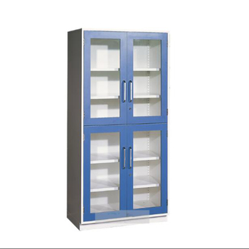Chemical laboratory steel cabinet with glass door storage cabinet used for hospital