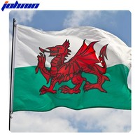 Hot Sales High Quality 100% Polyester Dragon Flying Wales Flag