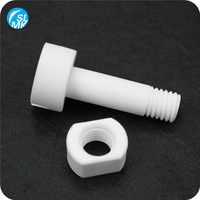 abrasion resistance 95 alumina part ceramic screw and nuts China
