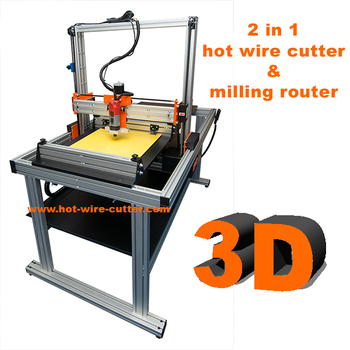 2in1 Xps And Eps Cnc Hot Wire Foam Cutter Milling Router Engraving Lynx T160 Multitool