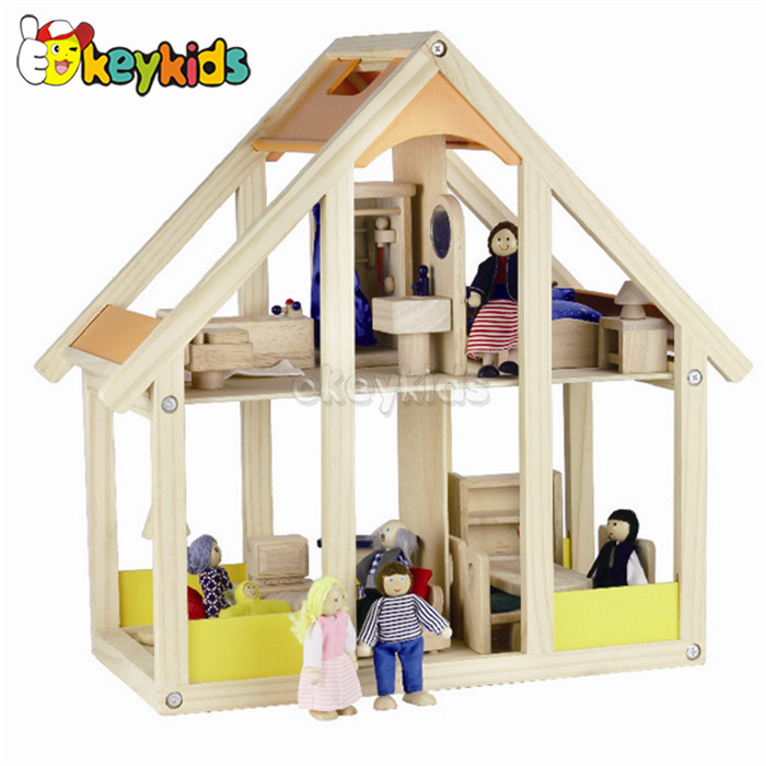 2016 wholesale baby wooden doll houses for sale, lovely kids wooden doll houses for sale, best doll houses for sale W06A082
