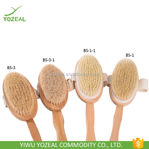 Long wooden handle detachable brush bath brush body wash brush