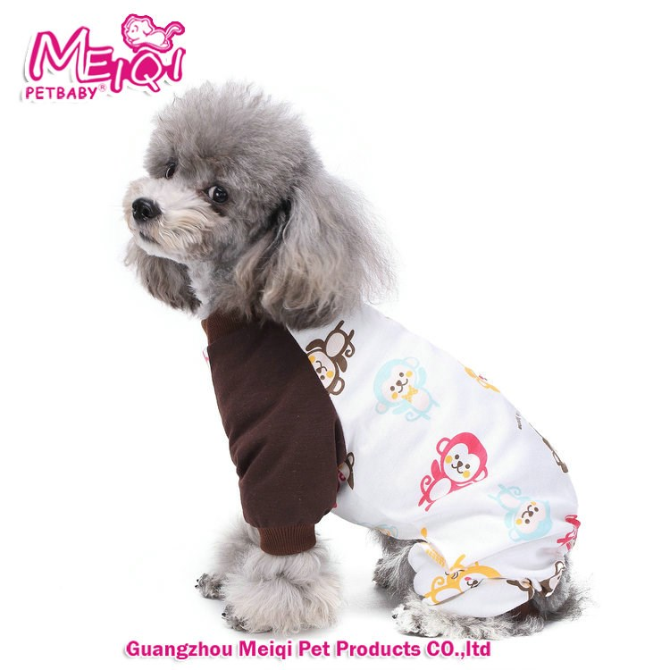 Wholesale dog pet pajamas, sleepwear fashion dog pajamas