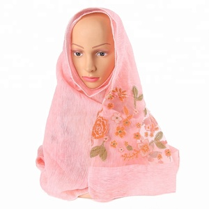 Hot Sell New Style Mutli-function Custom Super Soft Tencel Shawl Women Embroidered Hijab Scarf
