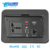 Aluminum alloy hydraulic pop up multimedia Conference Table Power Outlets/Pop Up Black Table electrical outlet socket