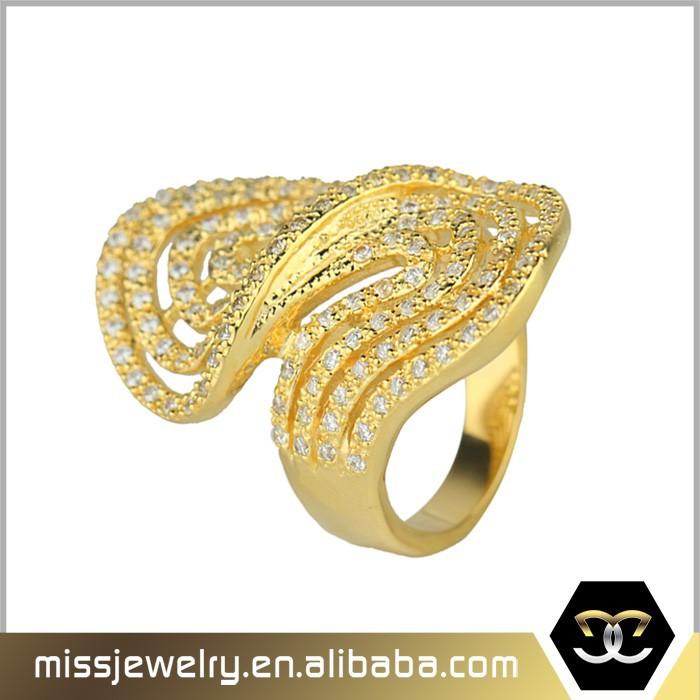 Missjewelry Latest 3 Gram Pure Gold Finger Wedding Ring Saudi ...