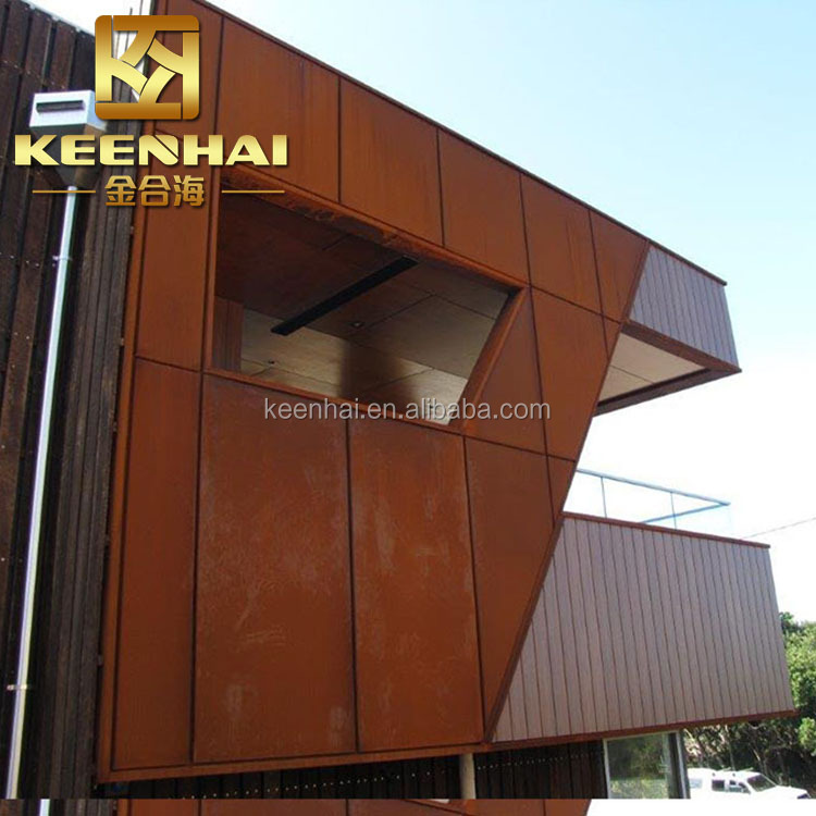 Outdoor decoration metal cladding systems corten steel wall panels