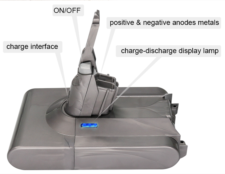 For Replacement V8 Handheld Vacuum Cleaner Dyson Battery