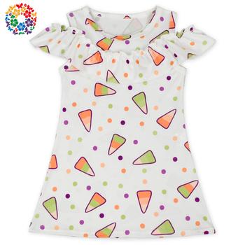 New Pattern Ice Cream Prints Tops For Girls Sleeveless Summer Soft