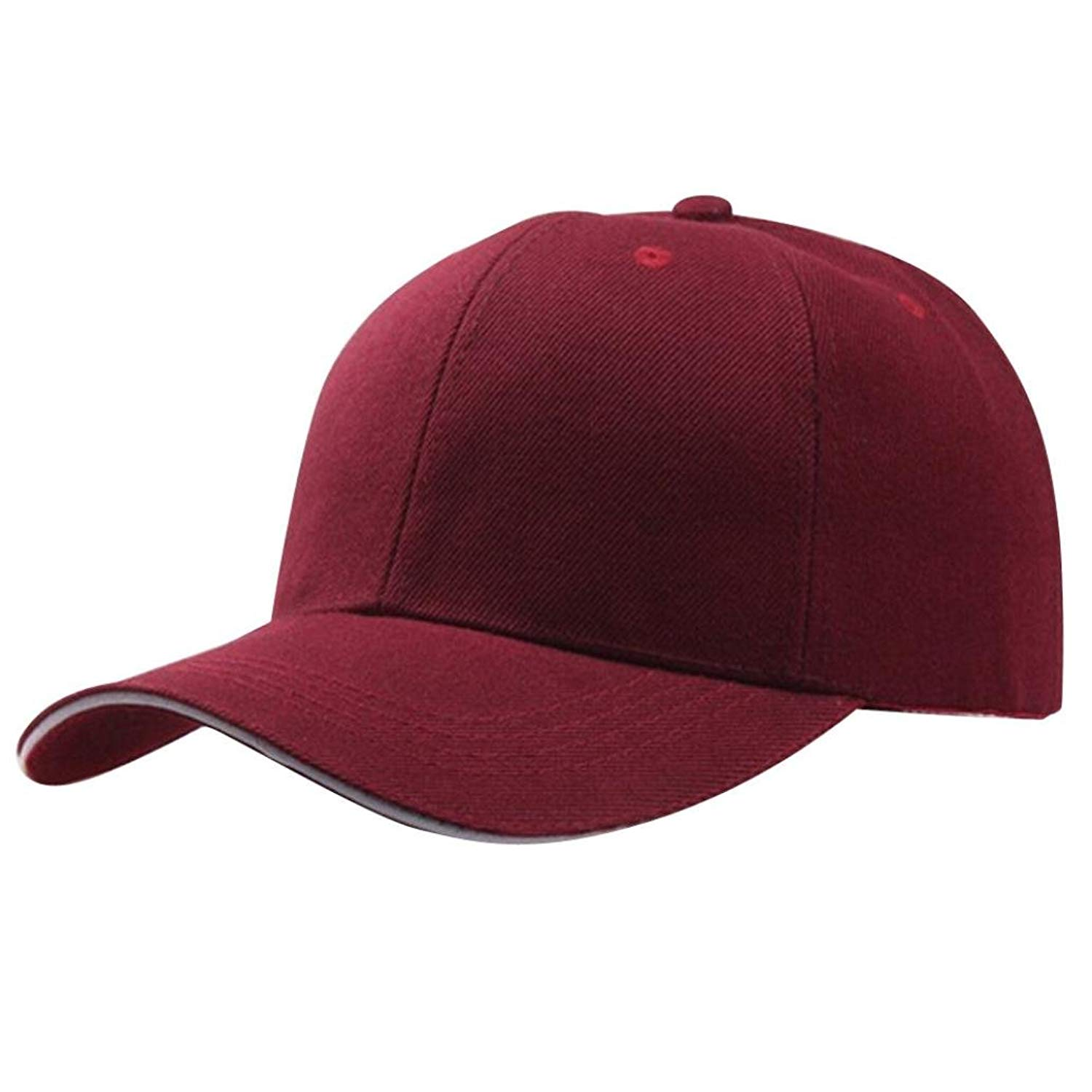 849d4758549 Get Quotations · Funic Clearance Sale Women s Baseball Caps Solid Color  Snapback Hat Hip-Hop Adjustable Hats