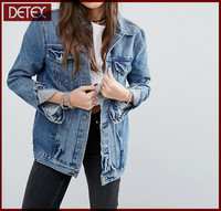 Chinese Factory Cotton Women Plain Denim Jacket