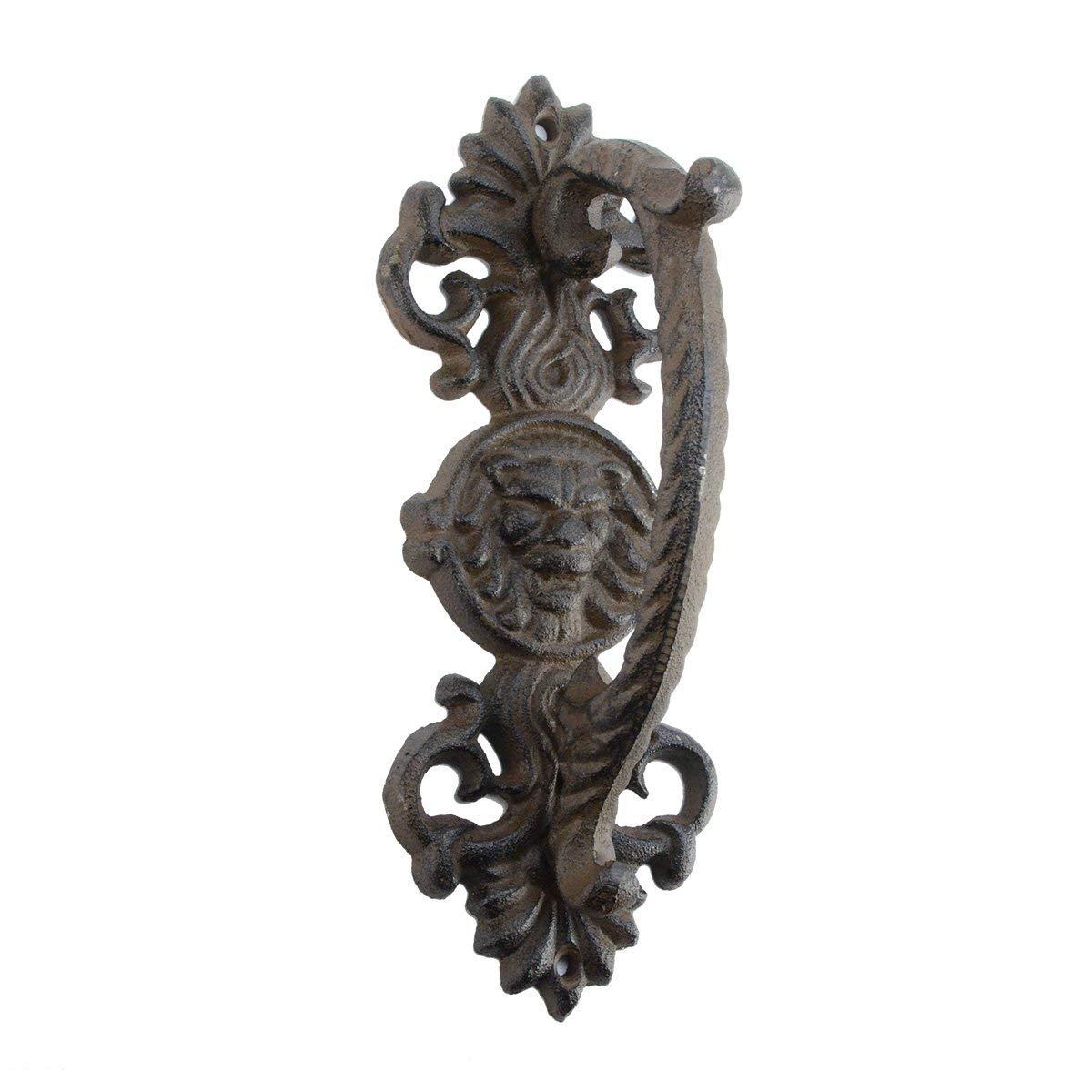 Ornate Cast Iron Lion Head Door Handle Gate Pull Grip