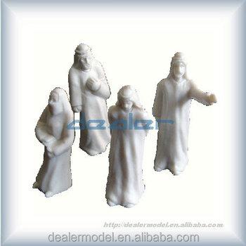 white arab model architectural model figure figure scale model