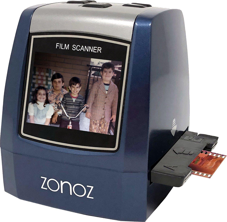 zonoz 22MP All-In-1 Film & Slide Converter Scanner w/ Speed-Load Adapters for 35mm, 126, 110 Negative & Slides, Super 8 Films - Includes Worldwide Voltage 110V/240V AC Adapter (FS-THREE)