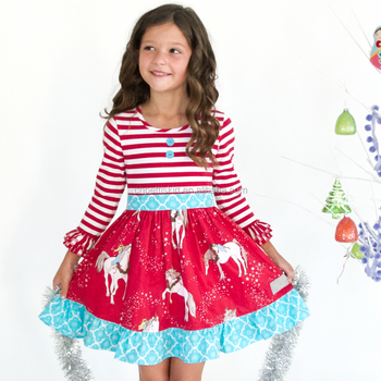 563bf10a5 New spring 2017 preorder cute baby girl christmas unicorn dress ...