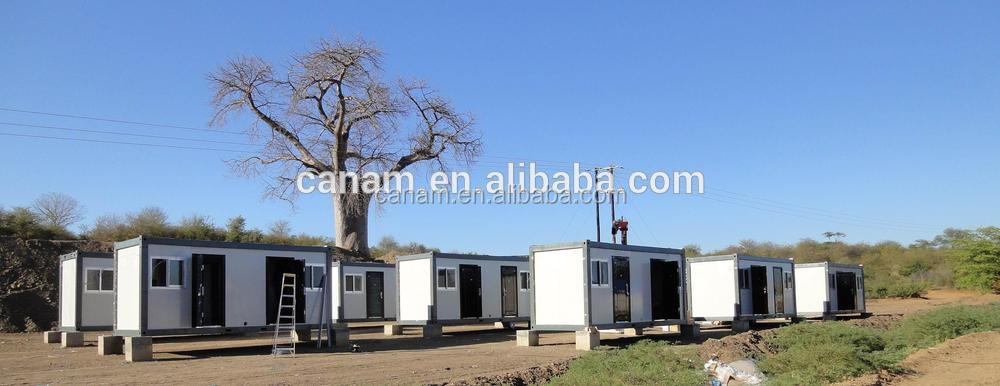 CANAM-Fully furnished prefab flat pack office modern container house for sale