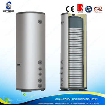 HSE 300 Freestanding Electrical Storage Tankless Water Heater With Glass  Lined Tank