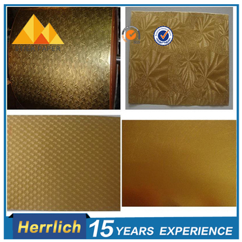 High Quality Embossing Gold PET Material For Box Packaging