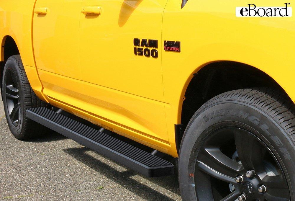 Running Board Side Step 5in Black Fit Dodge Ram 1500//2500//3500 Mega Cab 06-08