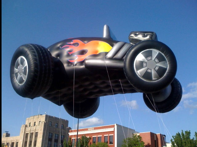 inflatable flying car balloon in 2013 for parade