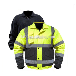 high visibility reflective safety winter jacket parka